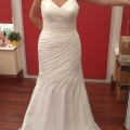 Full Length Front View - Trumpet style is ideal for hourglass figure.